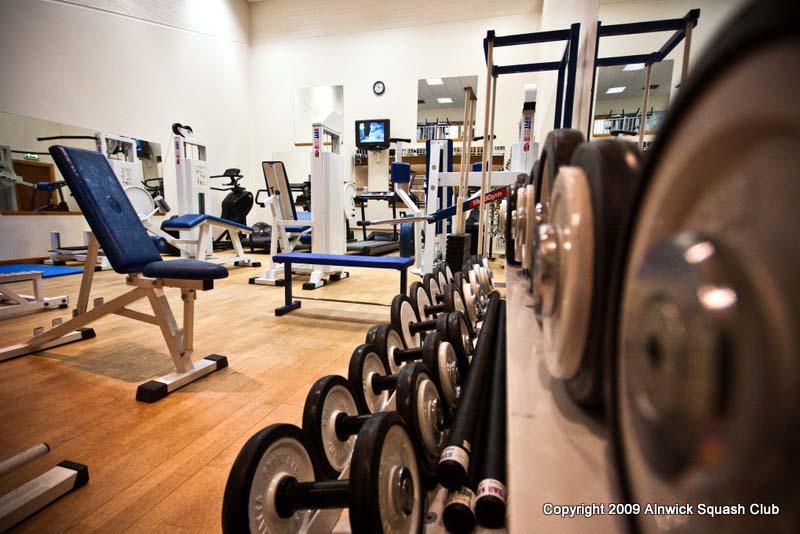 Alnwick squash club the gym and aerobics room